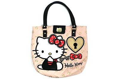 "NWT Loungefly Hello Kitty ""Key to my Heart"" Appliqued Quilted Faux Leather Tote"