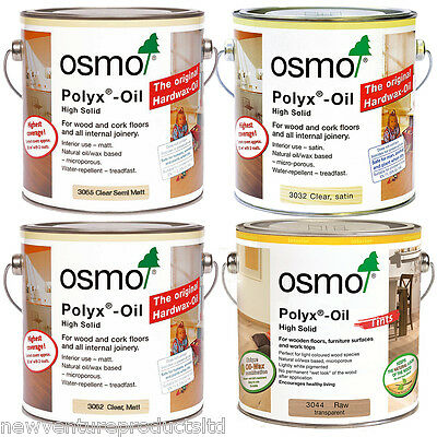 Osmo Polyx Hardwax Oil 3032 Satin 3062 Matt 3065 Semi-Matt 3044 Raw 3011 Glossy