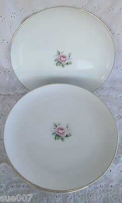 """Set of 2 Style House Fine China Japan Miniver 10.5"""" Dinner Plates Plates Rose"""