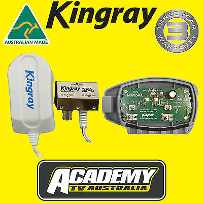 Mhw24Ge Kingray Digital Tv Masthead Amplifier Booster Inc Kps06 Power Supply