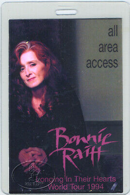 Bonnie Raitt 1994 Longing In Their Hearts Laminated Backstage Pass