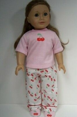 """Brown LEOPARD Spot PJ Pants Top Pajama Doll Clothes For 18/"""" American Girl Debs"""