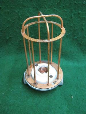 Vintage Industrial Factory Warehouse Steampunk Cage Light Old #2572-13