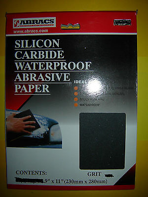 Abracs Wet and Dry Abrasive Paper You Choose grade Grit and Quantity UK FREEPOST