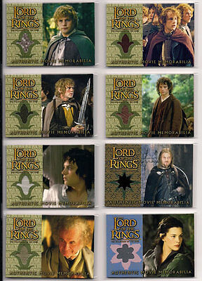 LOTR FOTR Fellowship Of The Ring Update Costume Card Set (8)