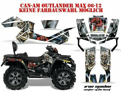 Amr Racing Dekor Kit Atv Can-Am Outlander Iron Maiden-Number Of The Beast B