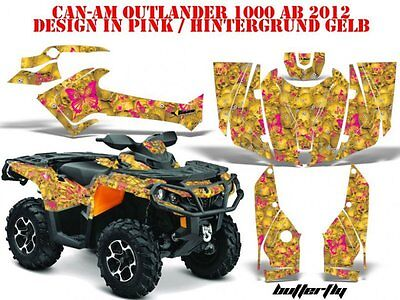 Amr Racing Dekor Kit Atv Can-Am Outlander Std & Xmr/max Graphic Kit Butterfly B