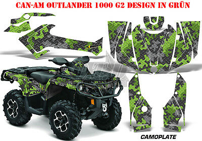 Amr Racing Dekor Kit Atv Can-Am Outlander Std & Xmr/max Graphic Kit Camoplate B