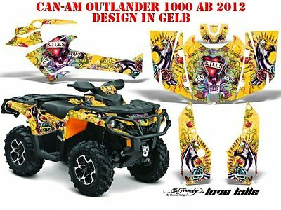 Amr Racing Dekor Graphic Kit Atv Can-Am Outlander  Ed-Hardy - Lovekills B