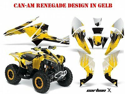 Amr Racing Dekor Kit Atv Can-Am Renegade,d250,ds450,ds650 Graphic Kit Carbon-X B