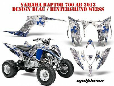 Amr Racing Dekor Graphic Kit Atv Yamaha Raptor 125/250/350/660/700 Meltdown B