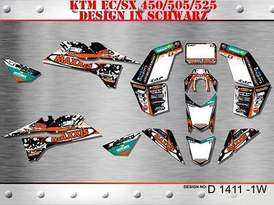 Motostyle Dekor Kit Atv Ktm 450 505 525 Sx Xc Graphic Kit D1411 B