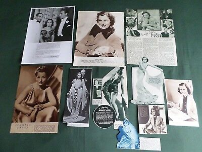 Frances Drake - Film Star- Clippings-Cuttings Pack