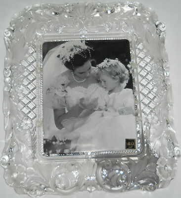 Mikasa German Crystal Timeless Love Picture Frame 7 X 9 4999