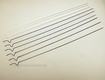 282a: 6x 300mm PUSH/PULL Rods W/Transparent Tubes, suit for RC Airplane