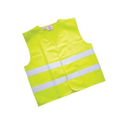 Yellow Hi-Vis Vest / High Visibility Dayglow Jacket Hi-Viz - Adult Size