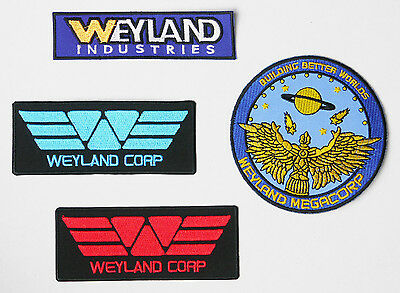 "ALIEN / ALIENS / PROMETHEUS ""Weyland Corp"" Patch Collection - NEW  #S36"