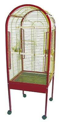 """Dometop Large Parrot Cage 59""""x21x21"""", Steel Bird Aviary"""