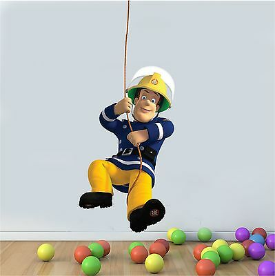 PRINTED WALL ART FIREMAN SAM SWING + rope extend stickers GRAPH STICKER DECALIC