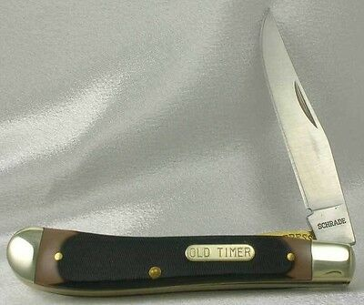 Schrade Knives Old Timer Gunstock Trapper Folding Knife 194OT