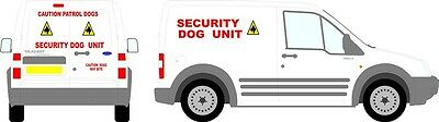 Reflective Dog Security Full vehicle Sticker kit  Small Van Graphic