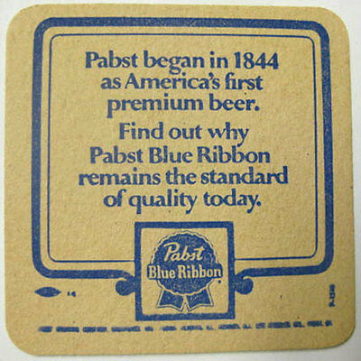 PABST BLUE RIBBON BEER, Pabst began in 1844 Coaster, MAT, Milwaukee WISCONSIN