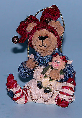 Boyds Bear Ornament Belle W/dolly Bow Perfect  #25751 Retired New N Box 1E!!!