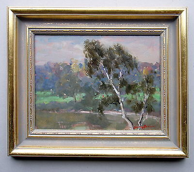 SHIRLY BOURNE Landscape Framed Oil Painting