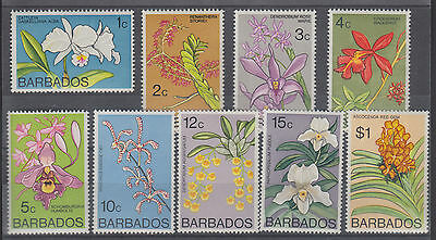 Barbados Sc 396/408 MNH. 1974-1977 Flowers, 9 diff from set