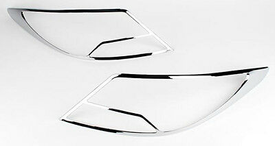 Rear Chrome Tail Light Lamp Molding Cover 2p 1set For 11 12 13 Hyundai Accent 4d
