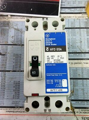 Westinghouse Eaton/cutler-Hammer Hfd2040 2P 40A Circuit Breaker