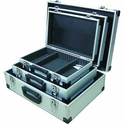 Metal Flight Case Lockable Triple Pack Small Medium Large Tool Storage Sections