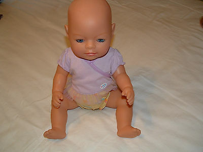 "ZAPF 2006 DRINK & WET NEW BORN DOLL 17"" MARKED  D 26472 ON HEAD AND BODY"