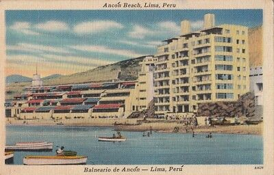 Postcard Ancon Beach Lima Peru
