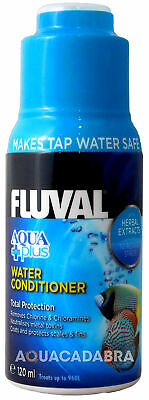 FLUVAL AQUAPLUS 120ml WATER CONDITIONER FISH TANK TAP SAFE FRESH NUTRAFIN