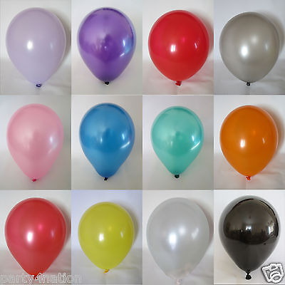 Latex Metallic Pearlised Quality Party Birthday Wedding 12 Inch BALLOONS
