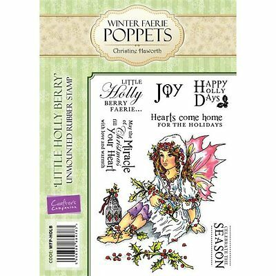 Crafters Companions WINTER FAERIE POPPETS Unmounted Stamps SNOW BABY WFP-SWBAB
