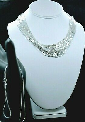"925 - Sterling Silver - 8 Sided Snake Chain in 14"",16"",18"",20"",22"",24"",30"