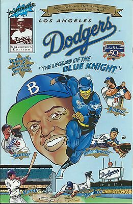 LOS ANGELES DODGERS RARE GIVEAWAY PROMO COMIC JACKIE ROBINSON 50th ANNIVERSARY
