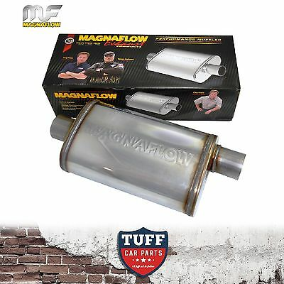 """Magnaflow Stainless Steel 3"""" Muffler Oval Body 16"""" x 8"""" x 5"""" Centre Offset New"""