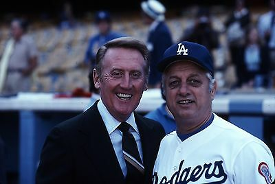 Vin Scully Tommy Lasorda 8X10 Glossy Photo Picture