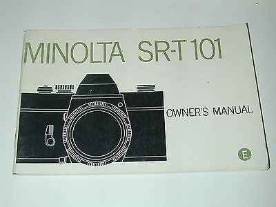 NOTICE MINOLTA SRT 101 en ANGLAIS  photo photographie