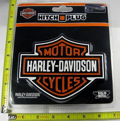 Harley Davidson Shield Hitch Cover Plug Solid Metal Truck Trailer New L895