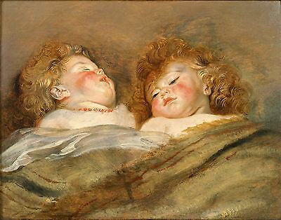 Peter Paul Rubens: Paintings: Two Sleeping Children - Fine Art Print