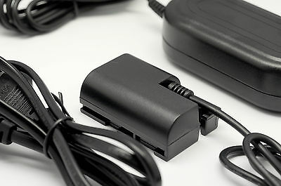 AC Power Adapter & DC Coupler for Canon ACK-E6 5D Mark III 7D 6D LP-E6 DR-E6