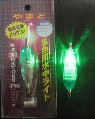 2x Mini Flashing LED Deep Drop Underwater Fishing Lure Lights in Green Color