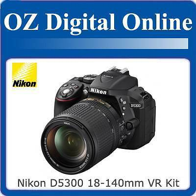 New NIKON D5300 18-140mm VR Kit +32GB+Gift Full HD 24MP DSLR 1 Year Au Wty