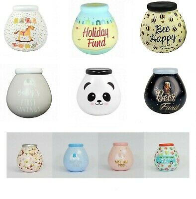Pot Of Dreams Ceramic Gift Money Box/ Pot - Various Designs -  Break To Open
