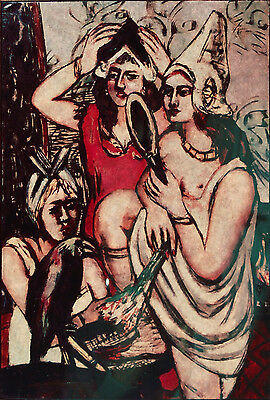 Max Beckmann/2 Color Transparencies from Oil on Canvas Paintings