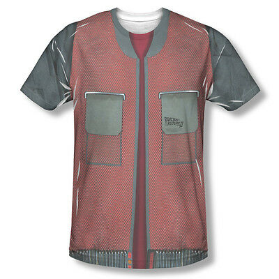 Back To The Future Movie Futuristic Jacket ALL OVER FRONT Sublimation Tshirt Top